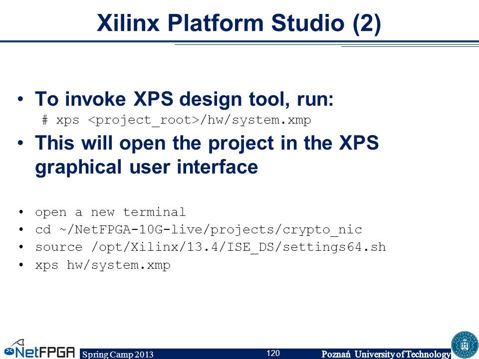 Xilinx Platform Studio (2)