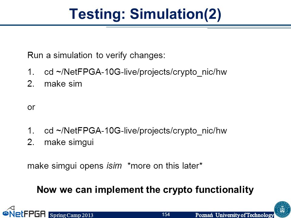 Testing: Simulation(2)