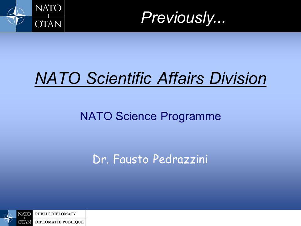 NATO Scientific Affairs Division