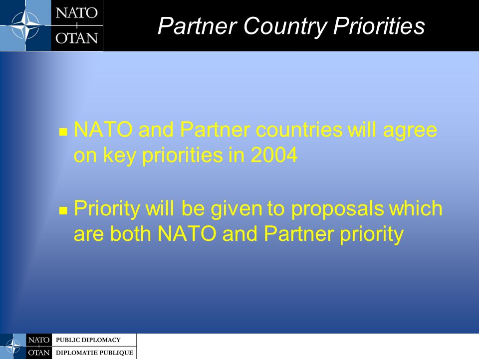 Partner Country Priorities