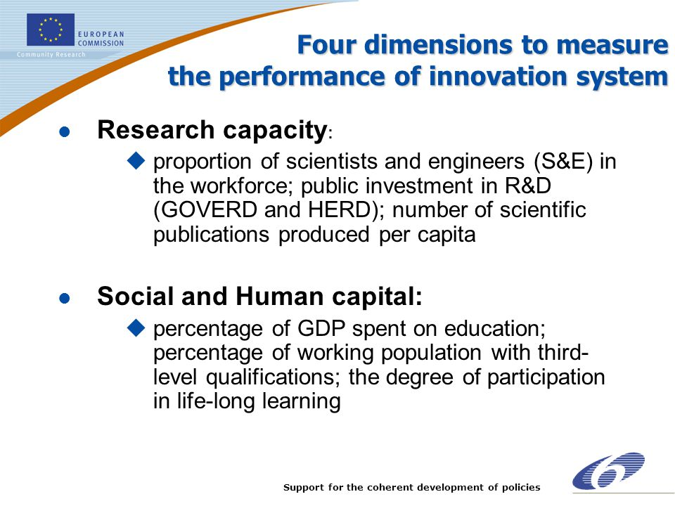 Four dimensions to measure the performance of innovation system