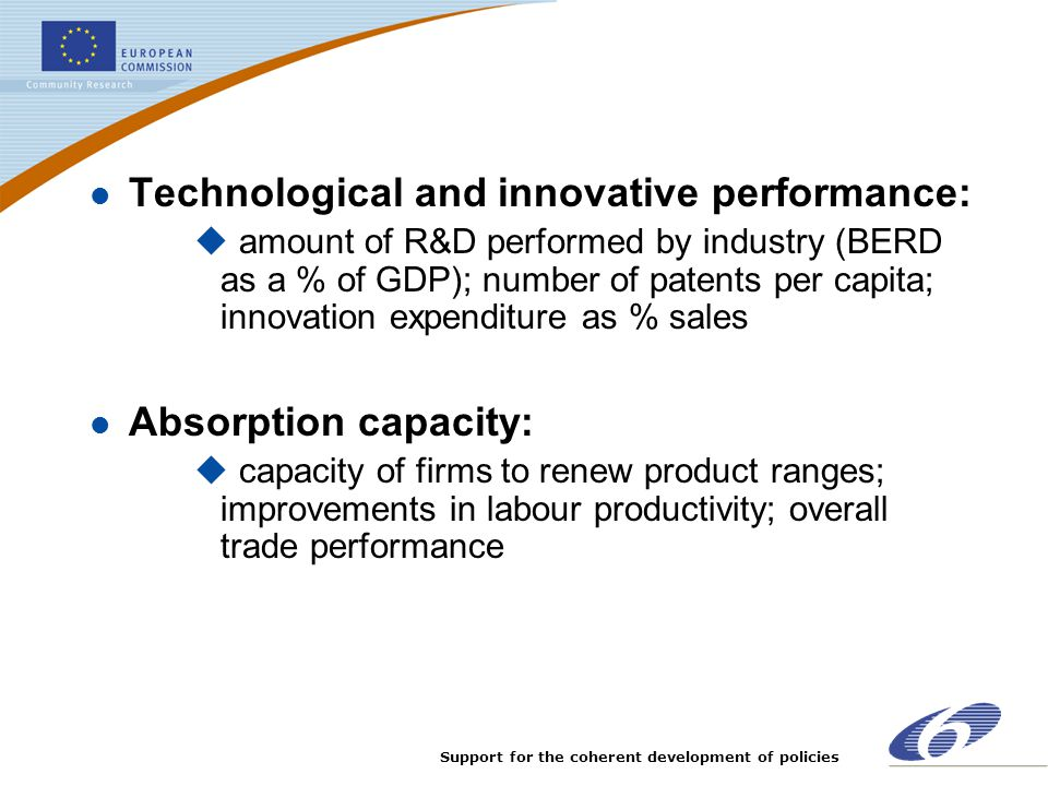 Technological and innovative performance: