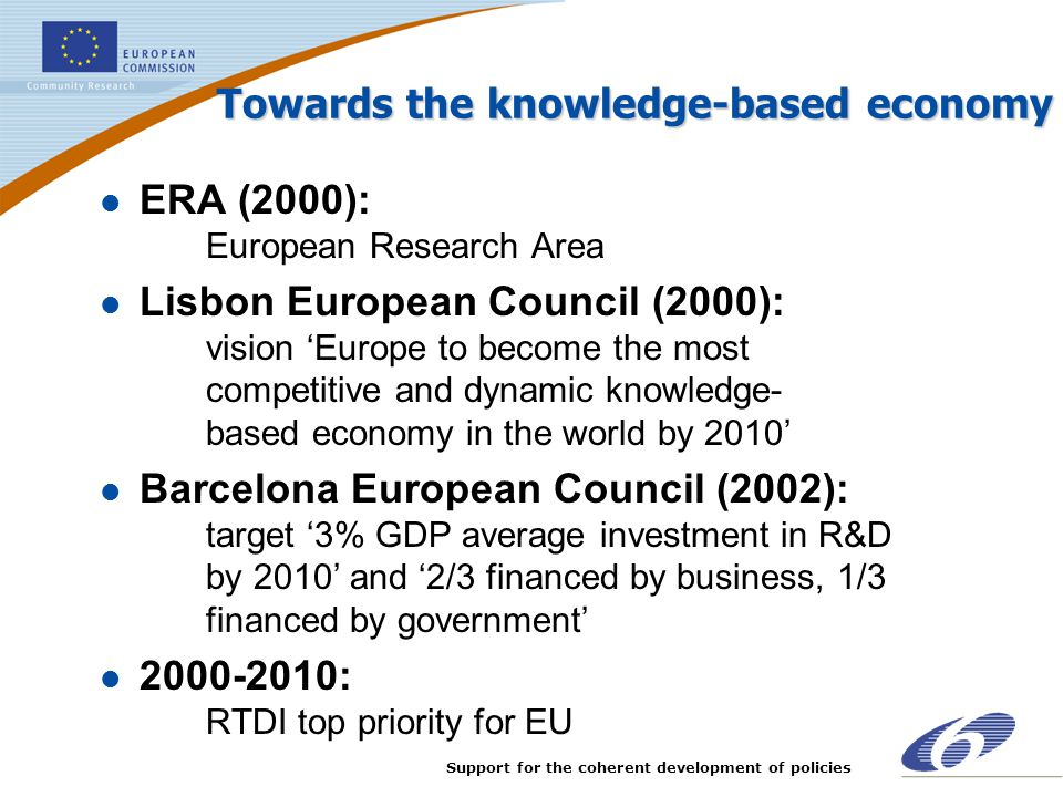Towards the knowledge-based economy