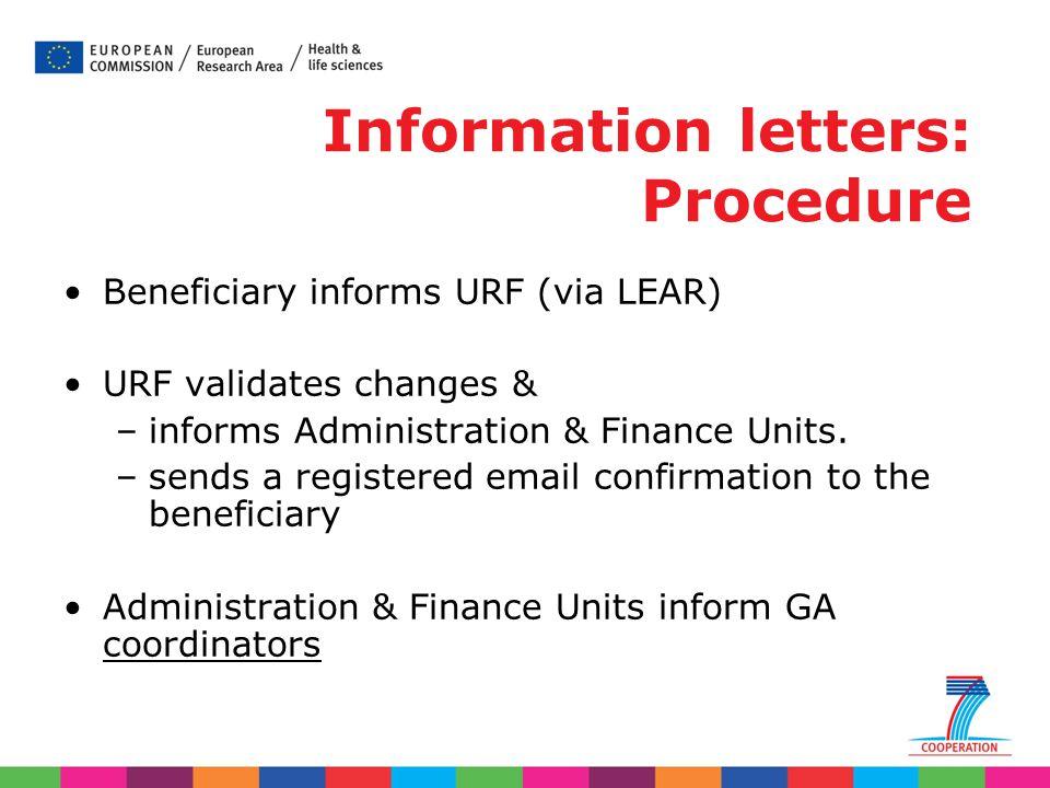 Information letters: Procedure
