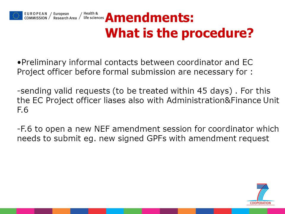 Amendments: What is the procedure