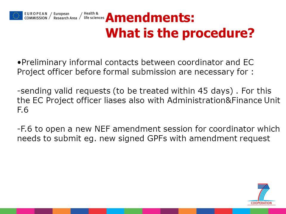 Amendments: What is the procedure