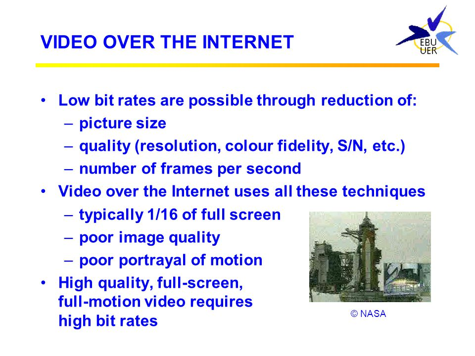 VIDEO OVER THE INTERNET