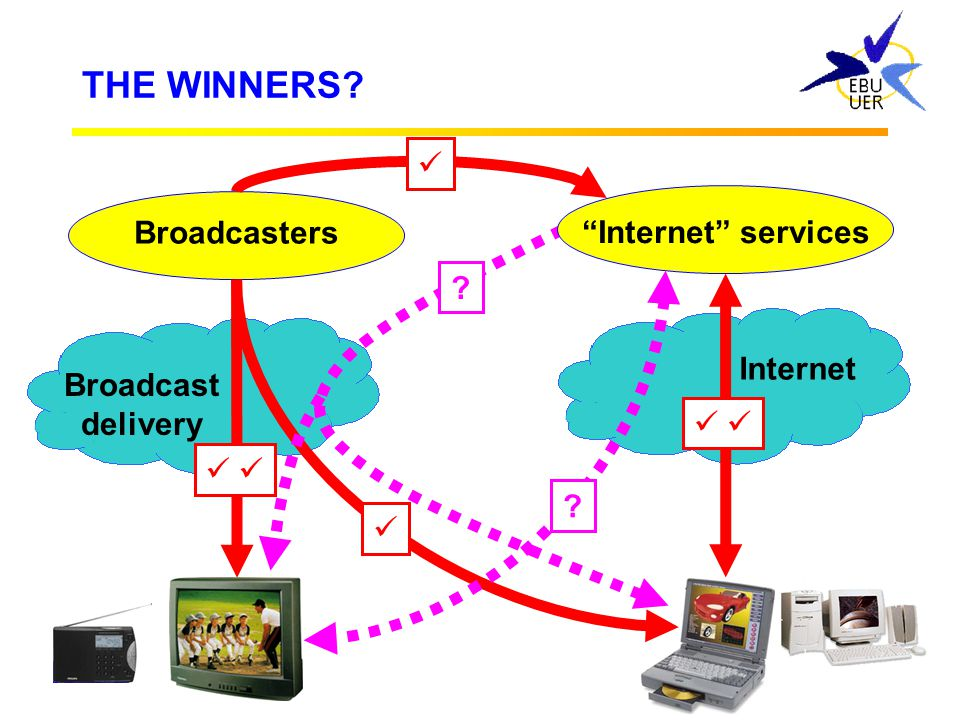 THE WINNERS  Broadcasters Internet services Internet Broadcast