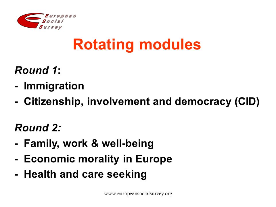 Rotating modules Round 1: - Immigration