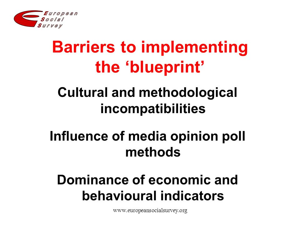 Barriers to implementing the 'blueprint'