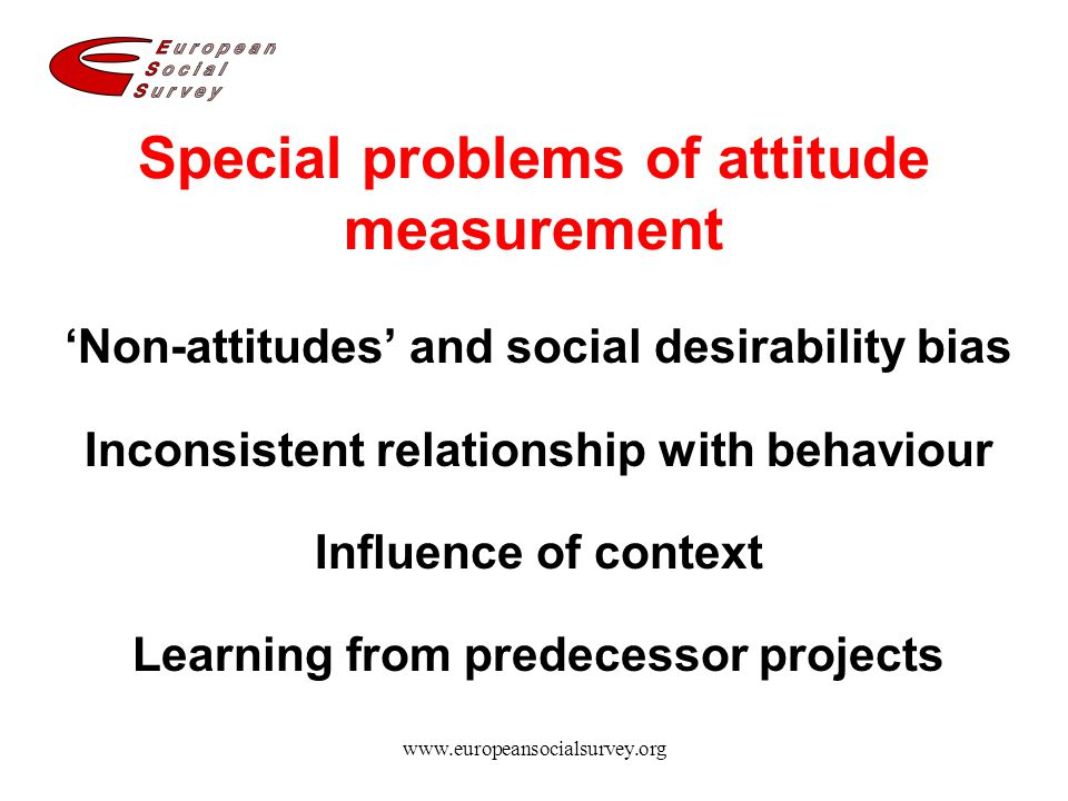 Special problems of attitude measurement