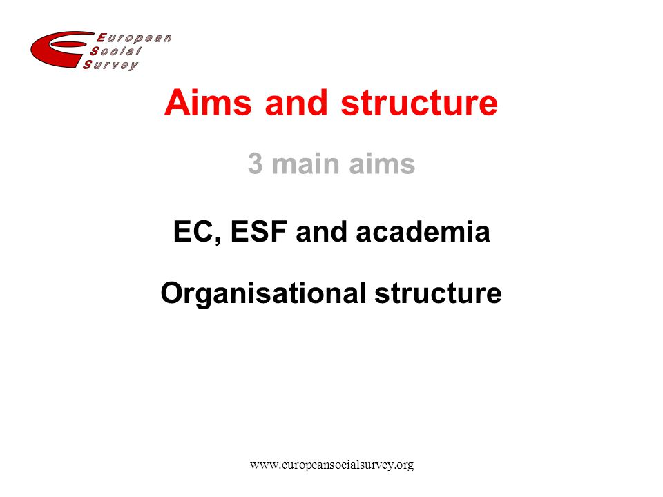 Aims and structure 3 main aims