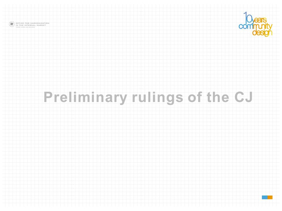 Preliminary rulings of the CJ
