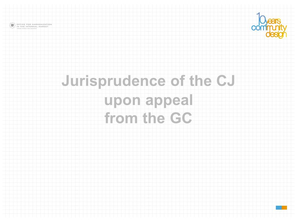 Jurisprudence of the CJ upon appeal from the GC