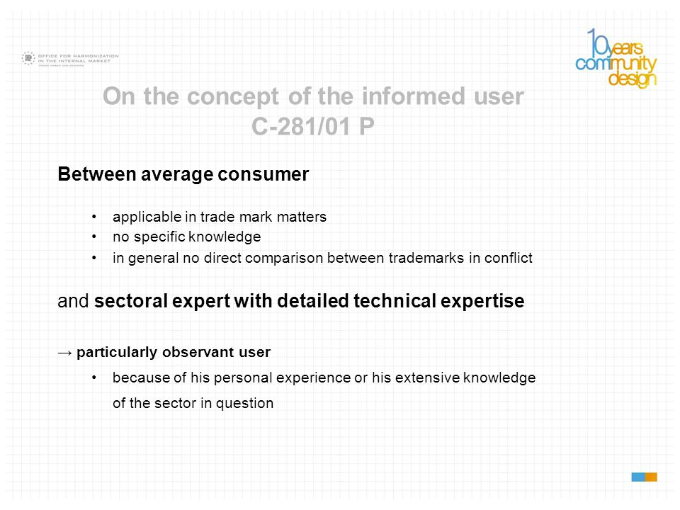 On the concept of the informed user