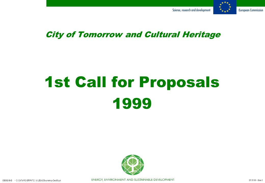 City of Tomorrow and Cultural Heritage