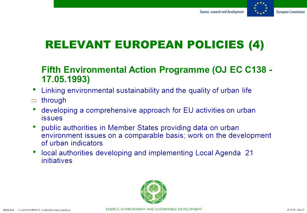 RELEVANT EUROPEAN POLICIES (4)