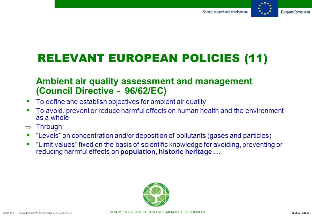 RELEVANT EUROPEAN POLICIES (11)