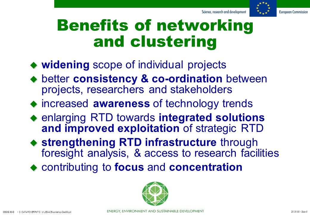 Benefits of networking and clustering