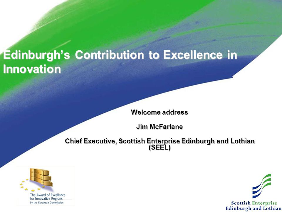 Edinburgh's Contribution to Excellence in Innovation