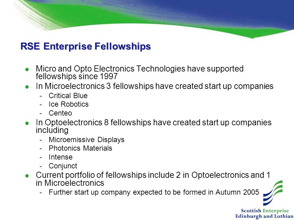 RSE Enterprise Fellowships