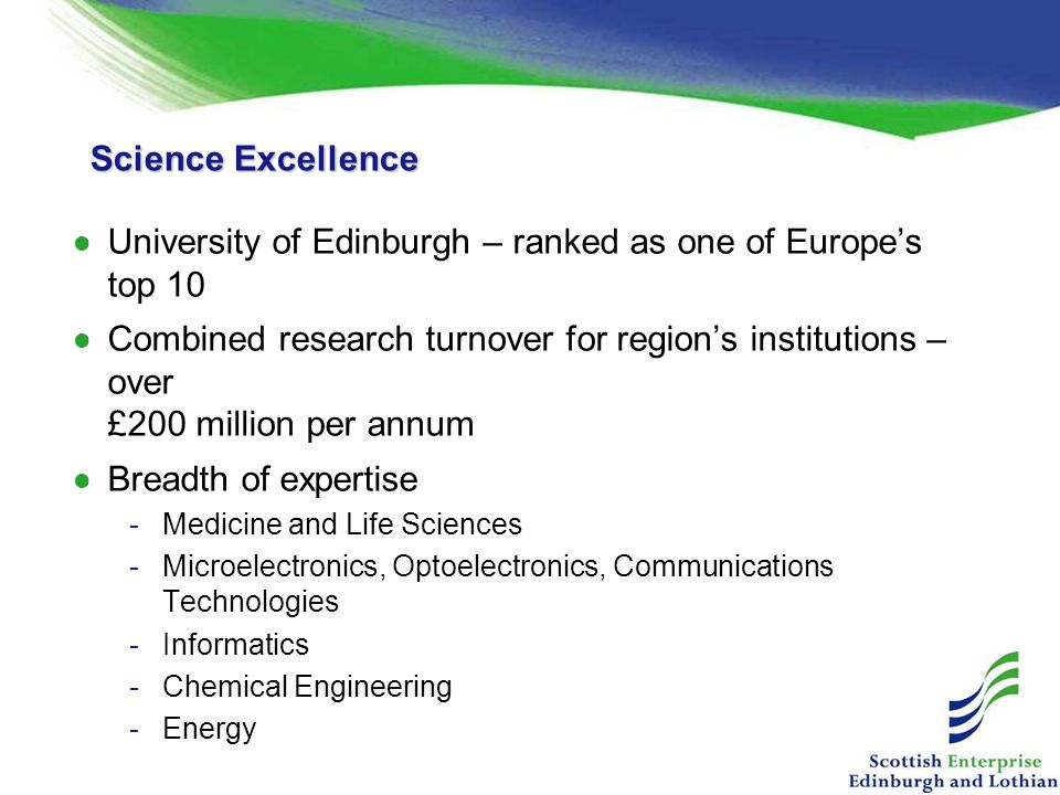 University of Edinburgh – ranked as one of Europe's top 10