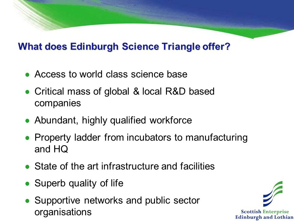 What does Edinburgh Science Triangle offer