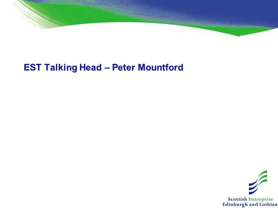 EST Talking Head – Peter Mountford