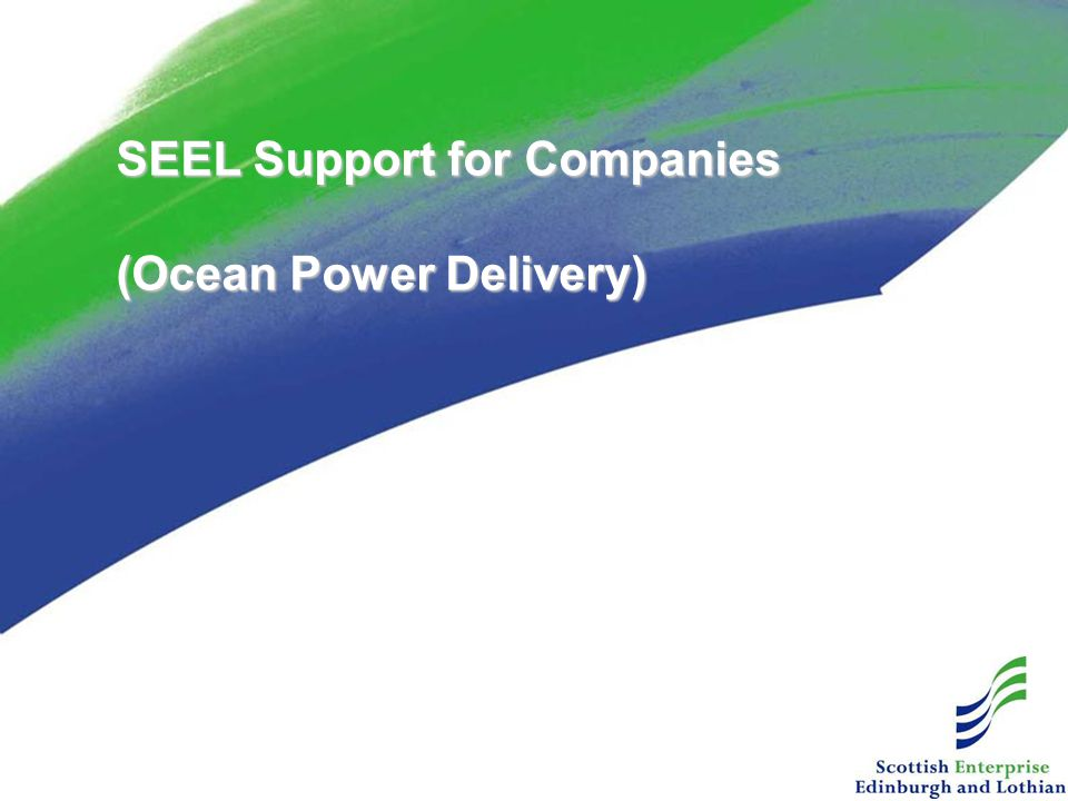 SEEL Support for Companies (Ocean Power Delivery)