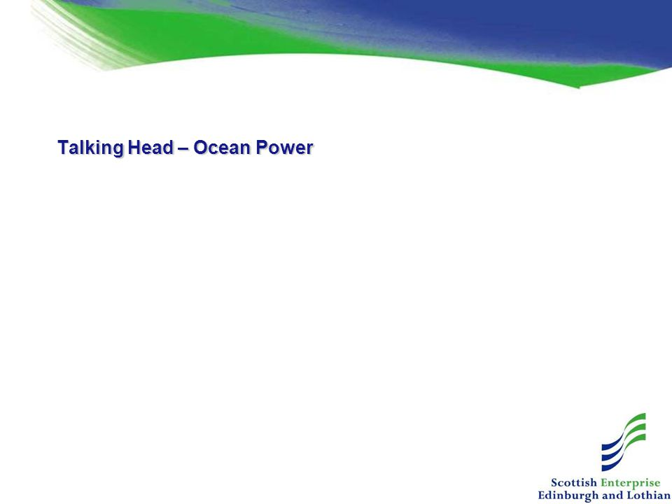 Talking Head – Ocean Power