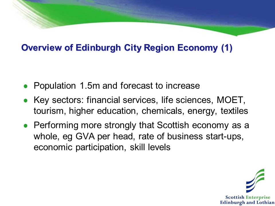 Overview of Edinburgh City Region Economy (1)