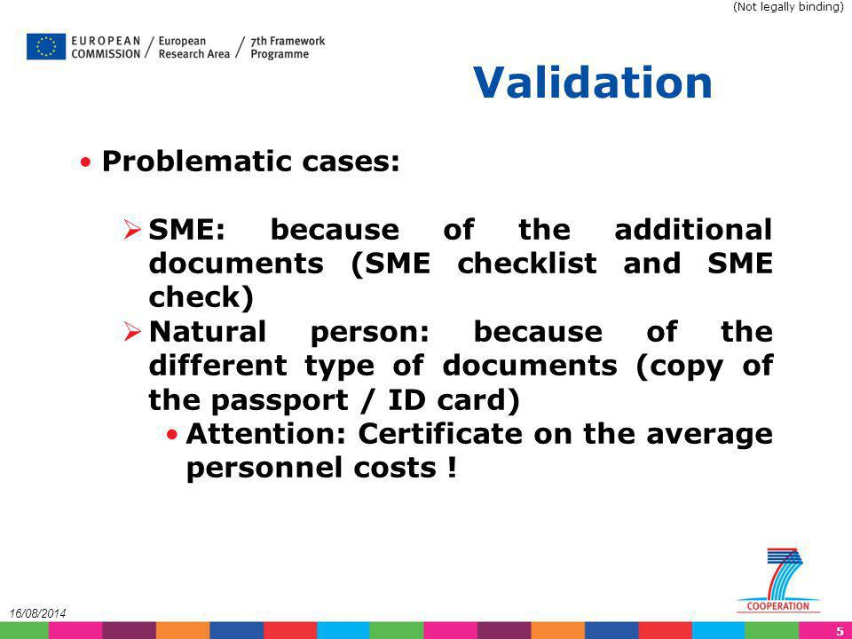 Validation Problematic cases: