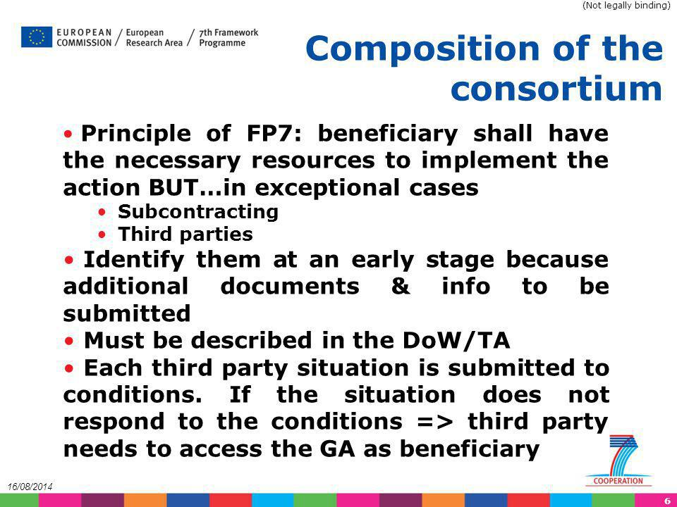 Composition of the consortium