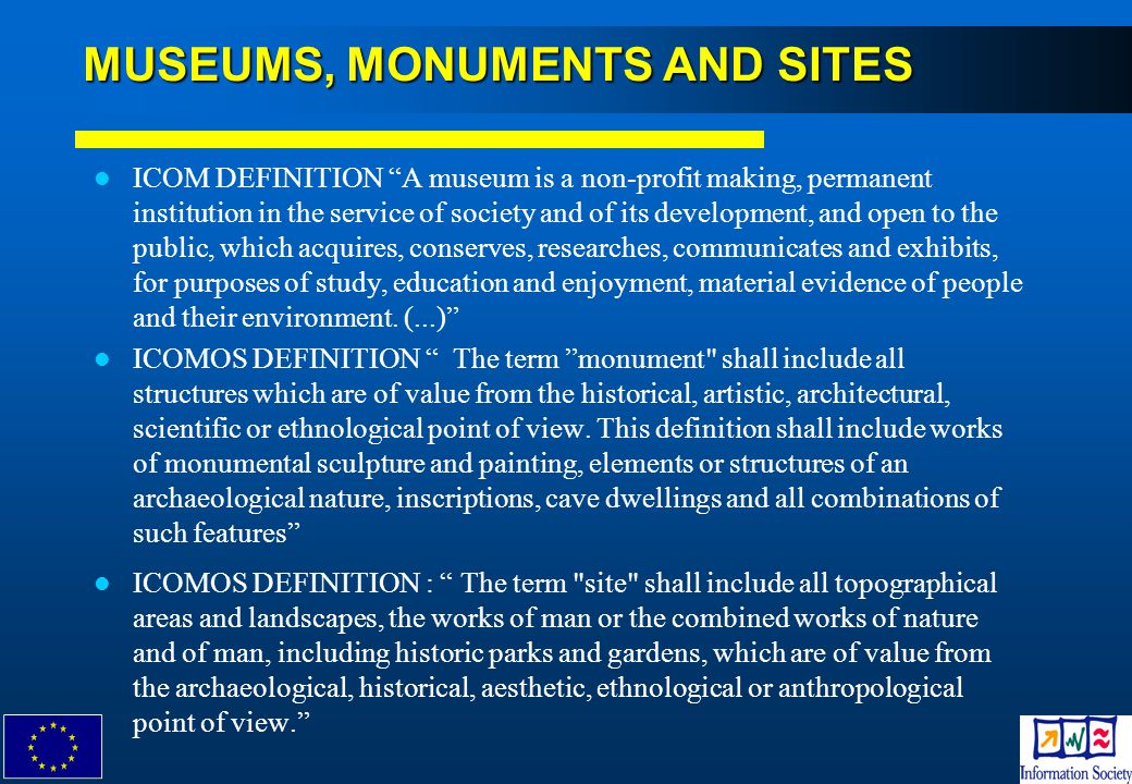 MUSEUMS, MONUMENTS AND SITES