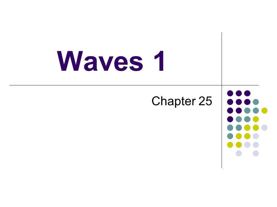 Waves 1 Chapter 25