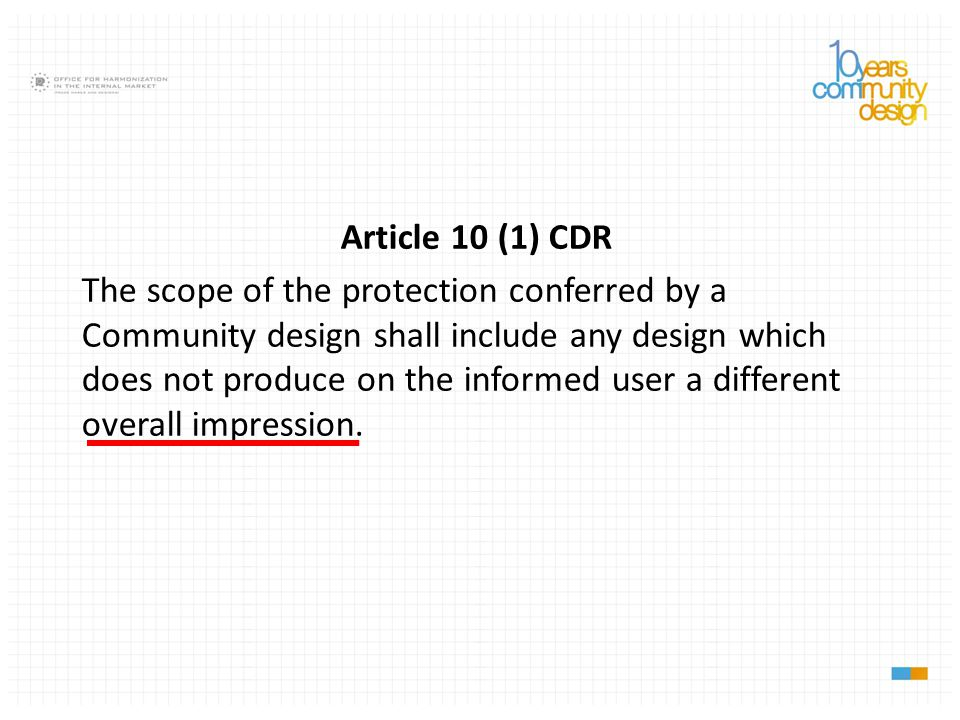 Article 10 (1) CDR