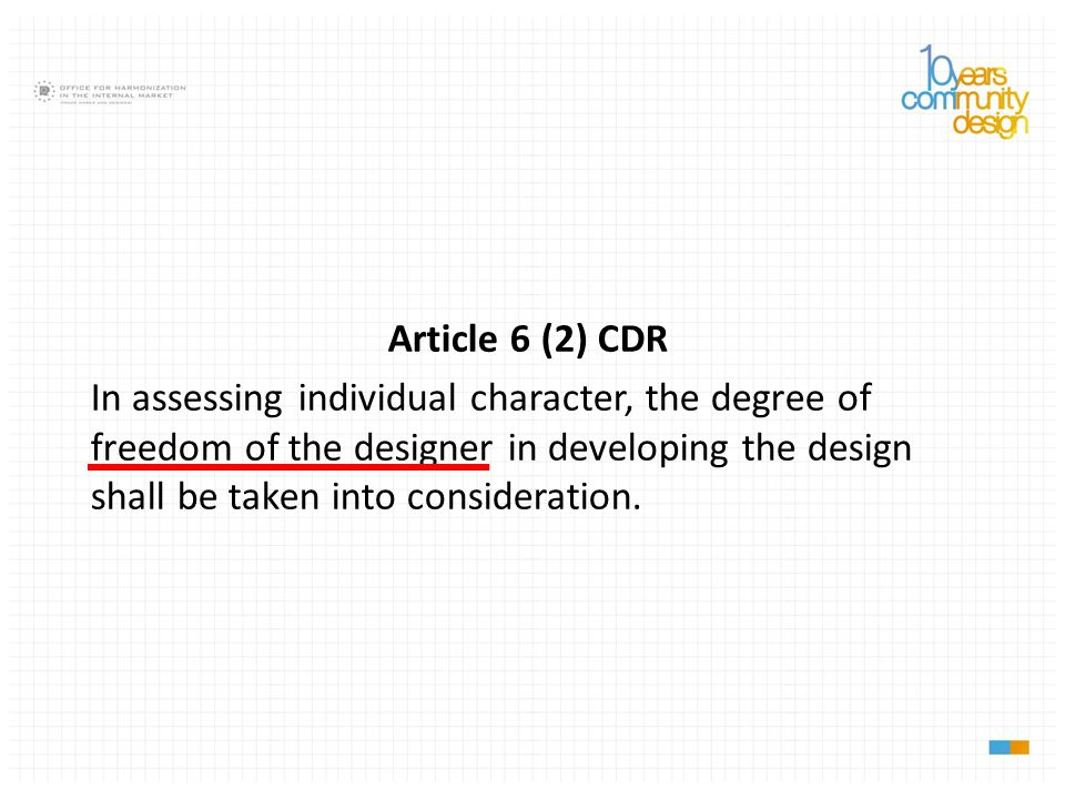 Article 6 (2) CDR