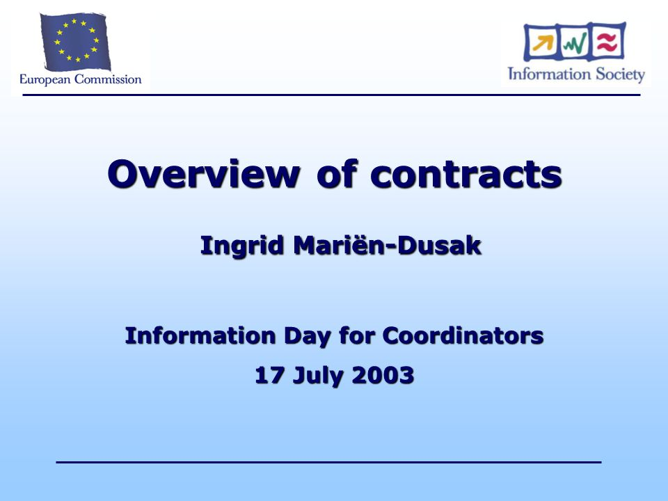 Overview of contracts Ingrid Mariën-Dusak