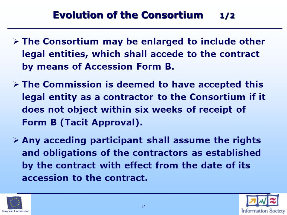 Evolution of the Consortium 1/2