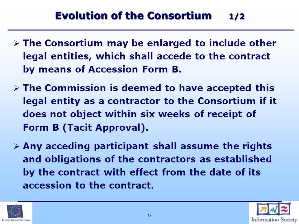 Evolution of the Consortium 1/2