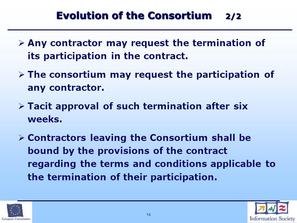 Evolution of the Consortium 2/2