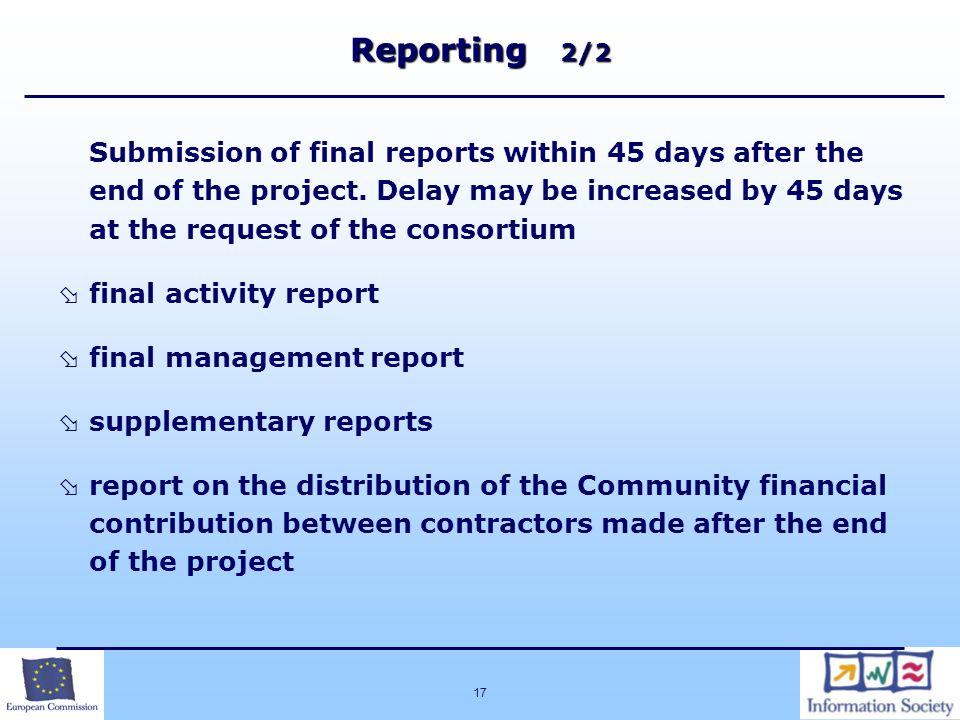 Reporting 2/2