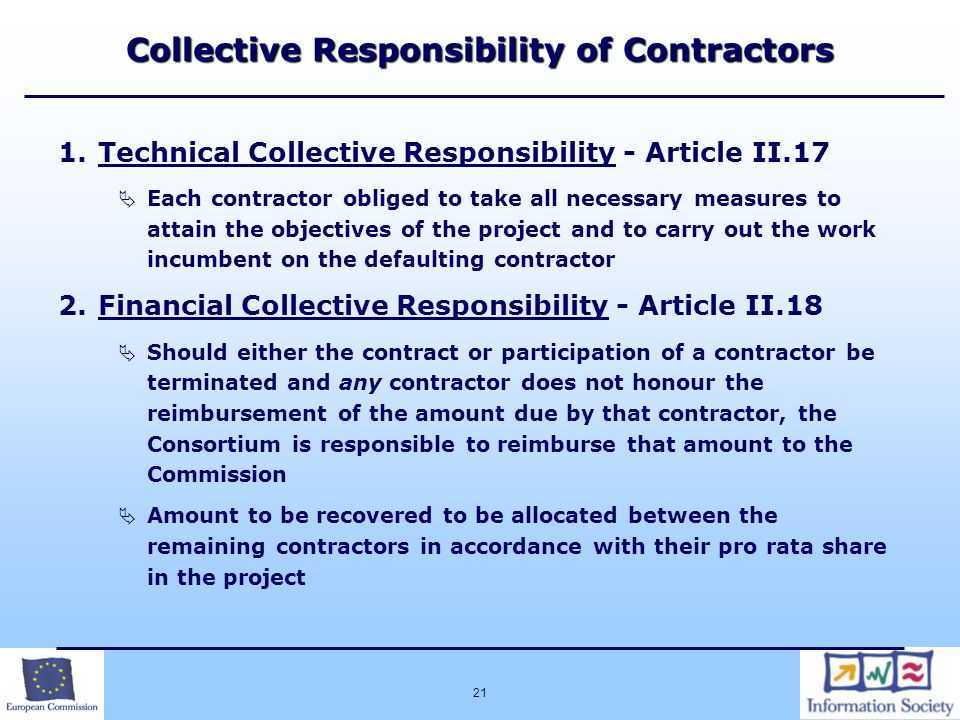 Collective Responsibility of Contractors