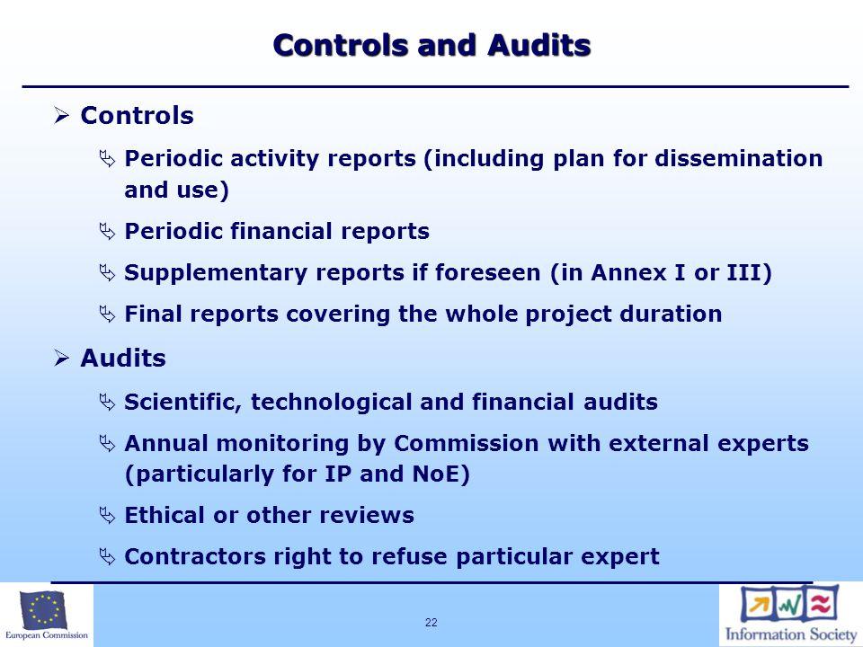 Controls and Audits Controls Audits