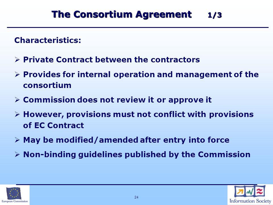 The Consortium Agreement 1/3