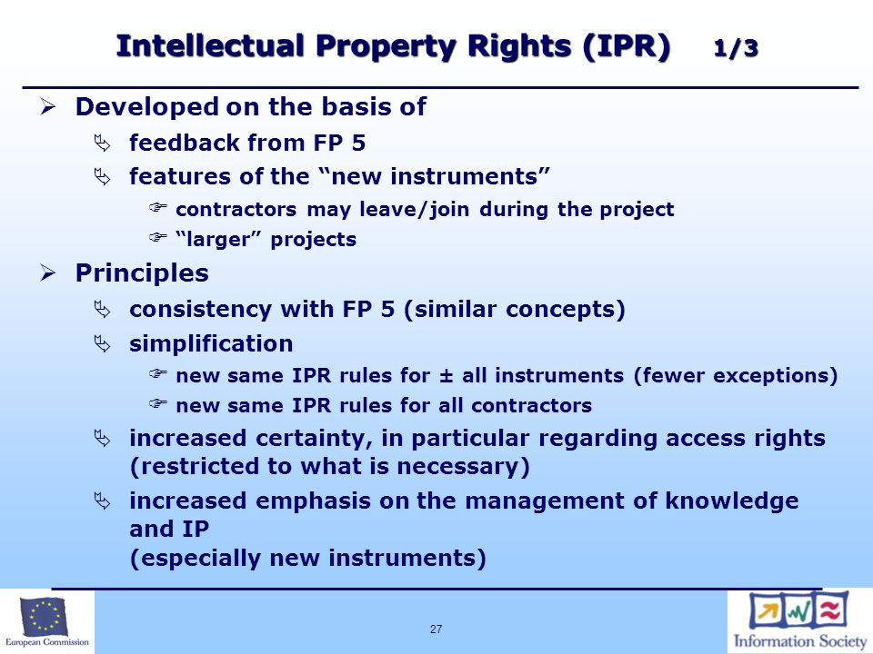 Intellectual Property Rights (IPR) 1/3