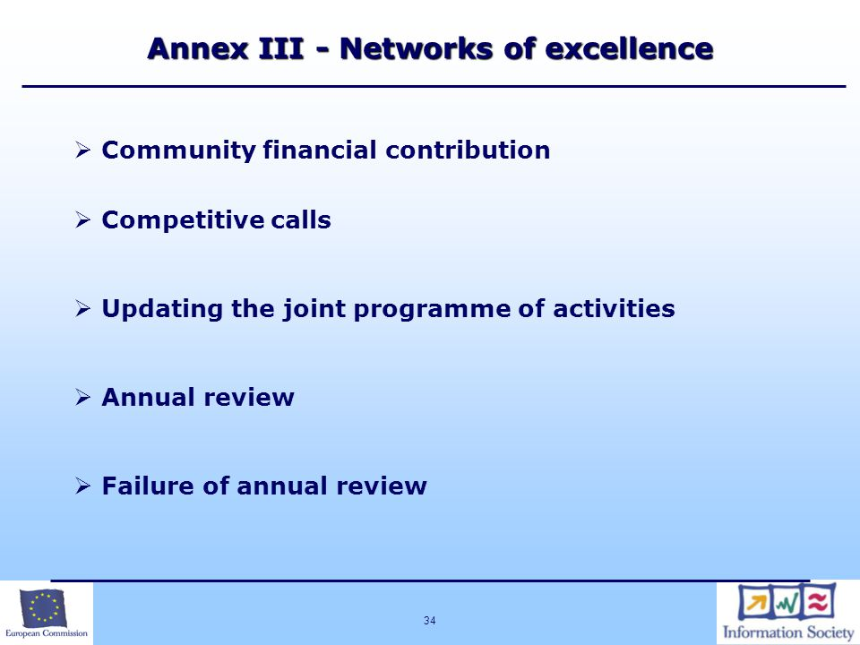 Annex III - Networks of excellence