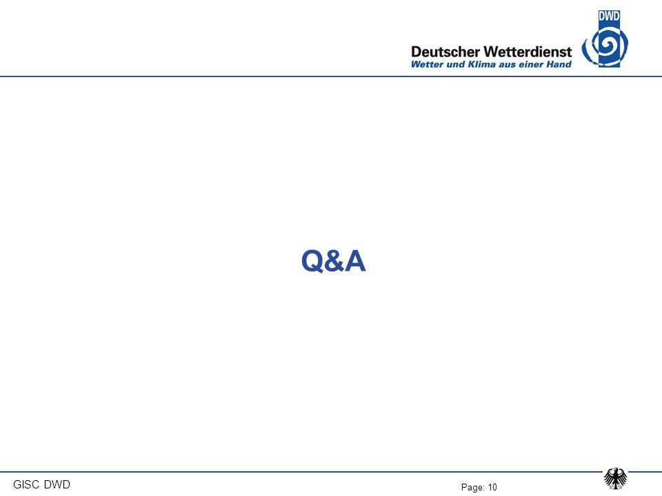 Q&A GISC DWD