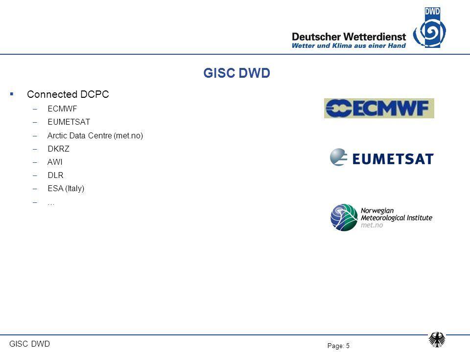GISC DWD Connected DCPC ECMWF EUMETSAT Arctic Data Centre (met.no)