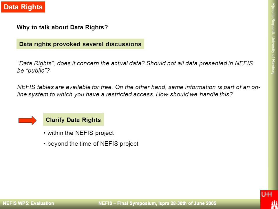 Data Rights Why to talk about Data Rights